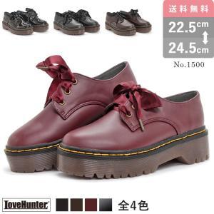 ショートブーツ レディース 3ホール おじ靴 厚底 4cm パンク ゴシック シューズ|mens-sanei