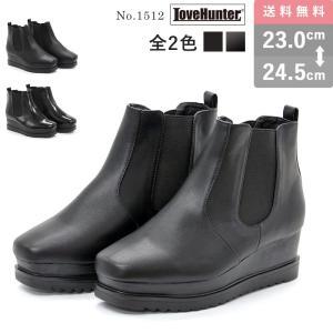 ショートブーツ レディース サイドゴア 厚底 5.5cmヒール パンク ヴィジュアル系 靴 mens-sanei