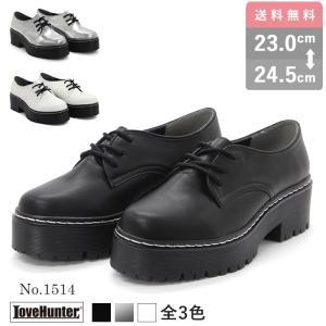 3ホールシューズ  オックスフォード おじ靴 厚底 レディース パンク シューズ 靴|mens-sanei