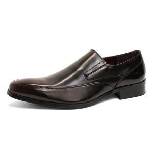 ビジネスシューズ 日本製 本革 スリッポン 7762DBR サラバンド メンズ 革靴 紳士 靴|mens-sanei