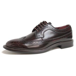 ビジネスシューズ 日本製 本革 ウィングチップ 外羽根 BROWN サラバンド メンズ 革靴 紳士 靴 撥水|mens-sanei