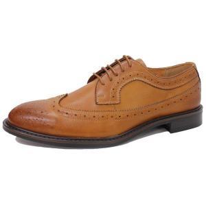 ビジネスシューズ 日本製 本革 ウィングチップ 外羽根 LIGHT BROWN サラバンド メンズ 革靴 紳士 靴 撥水|mens-sanei