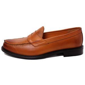 ビジネスシューズ 日本製 本革 ローファー スリッポン 8608LBR サラバンド メンズ 革靴 紳士 靴|mens-sanei