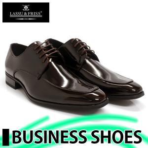 ビジネスシューズ 外羽根 ロングノーズ DARK BROWN ラスアンドフリス メンズ 革靴 紳士 靴 2足6000円セット対象商品|mens-sanei