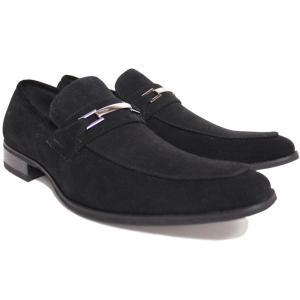 ビジネスシューズ ロングノーズ ビット ブラック BLACK SUEDE ラスアンドフリス メンズ 革靴 紳士 靴 2足6000円セット対象商品|mens-sanei