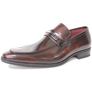 ビジネスシューズ ロングノーズ ビット DARK BROWN ラスアンドフリス メンズ 革靴 紳士 靴 2足6000円セット対象商品|mens-sanei