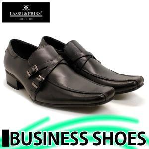 ビジネスシューズ 大きいサイズ スリッポン BLACK ラスアンドフリス 革靴 紳士 靴 2足6000円セット対象商品