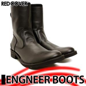 レッドカバー エンジニア ジップ ブーツ 9892 BLACK|mens-sanei