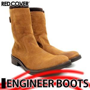レッドカバー エンジニア ジップ ブーツ 9892 BROWN SUEDE|mens-sanei