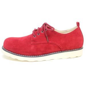 2足6000円セット対象 ボアダム メンズ プレーントゥ シューズ ワーク ブーツ 靴 スエード レッド RED|mens-sanei