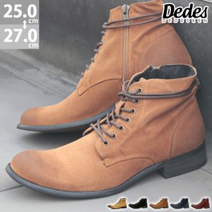 2足9000円セット対象  デデス アミアゲショートブーツ 5色展開 メンズ 靴 カジュアル シューズ サイドジップ|mens-sanei