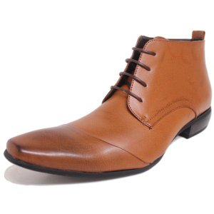 ビジネスシューズ チャッカー ビジネスブーツ 895LBR  ラスアンドフリス メンズ 革靴 紳士 靴 2足8000円セット対象商品|mens-sanei
