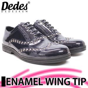 デデス エナメル ウィングチップ 5028NV メンズ 靴 スニーカー ドレスシューズ 紳士 靴 mens-sanei