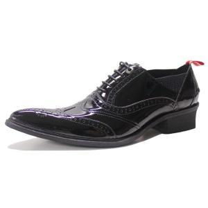 ドレスシューズ ウイングチップ エナメル REDCOVER レッドカバー メンズ 紳士 靴 革靴 レザー 9908BLE mens-sanei