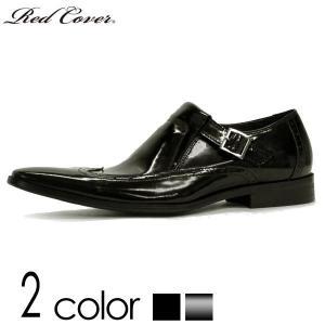 ドレスシューズ 本革 スリッポン レッドカバー 2色展開 メンズ 紳士 靴 ポインテッド シューズ ブラック エナメル BLACK BLACKENAMEL|mens-sanei