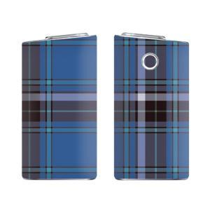 glo グロー スキンシール ラミネート加工有 全面セット (タータンチェック ブルー)|menscasual