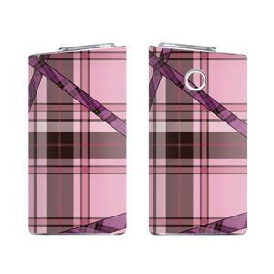 glo グロー スキンシール ラミネート加工有 全面セット (タータンチェック 2 ピンク)|menscasual