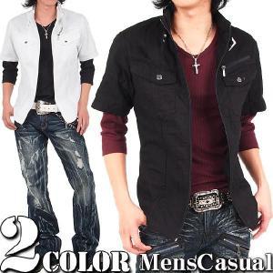ミリタリーシャツ メンズ 半袖|menscasual