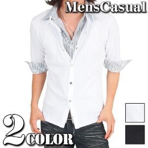 カーディガン メンズ シャツ カットソー 七分袖 半袖 menscasual