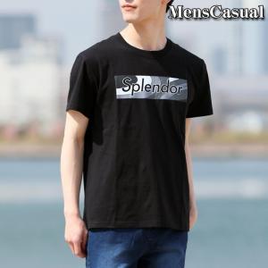 Tシャツ メンズ 半袖 プリントTシャツ Vネック カットソー クルーネック 文字 ロゴT ホワイト ブラック 白 黒 春夏|menscasual