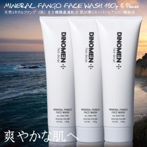 洗顔 フォーム メンズ 3本セット DiNOMEN ミネラルファンゴウォッシュ 男性用化粧品 メンズコスメ スキンケア 男の肌 スッキリ洗浄 ディノメン 送料無料 父の日|menscosme