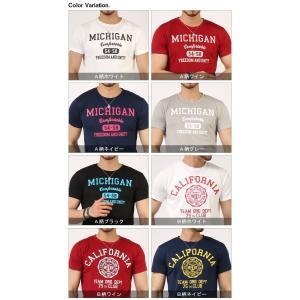 Tシャツ メンズ 吸汗速乾 ドライメッシュ素材 アメカジ Tシャツ カレッジ プリント TEE おしゃれ|mensfashion|15