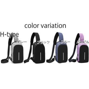 ボディバッグ メンズ レディース かばん USBポート搭載 ケーブル付 ミニバッグ 軽量 おでかけ おしゃれ|mensfashion|11