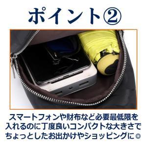 ボディバッグ メンズ レディース かばん USBポート搭載 ケーブル付 ミニバッグ 軽量 おでかけ おしゃれ|mensfashion|04