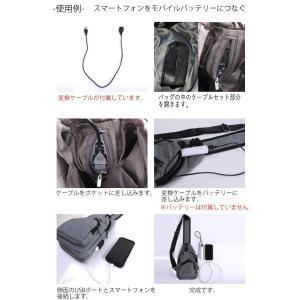 ボディバッグ メンズ レディース かばん USBポート搭載 ケーブル付 ミニバッグ 軽量 おでかけ おしゃれ|mensfashion|06