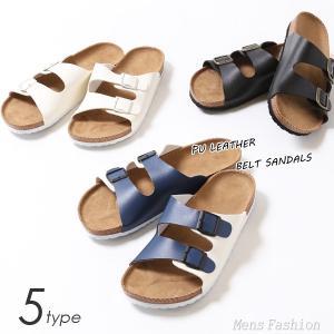 サンダル メンズ ベルトサンダル  メンズ PU レザー ベルト 靴 シューズ 海 夏 シンプル|mensfashion
