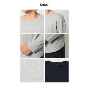 ロンT 7分袖 人気 4万枚完売 サーマル ロングT ワッフル Tシャツ メンズ カットソー mensfashion 04