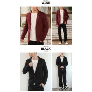 テーラードジャケット アウター メンズ/メンズファッション/ポンチ スウェット 長袖ジャケット|mensfashion|04