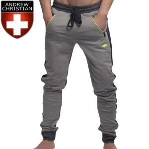 スウェットパンツ Andrew Christian アンドリュークリスチャン メンズ スリム ジョガーパンツ ストレッチ Vibe Training Pants(4138)|mensrunway