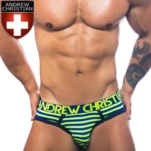 ブリーフ メンズビキニ アンドリュークリスチャン Andrew Christian アンクリAlmost Naked Electric Stripe ビキニブリーフ(90918)|mensrunway