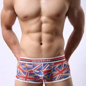 ボクサーパンツ メンズ ブランド Howe Ray UK イギリス国旗柄メッシュ ローライズボクサー(hrb103) mensrunway