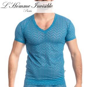 男性用 メンズTシャツ フランス高級下着 ルームウェア メンズ インナー L'Homme Invisible Celestial Dreams レース メッシュ Tシャツ(my73-cel-280)|mensrunway