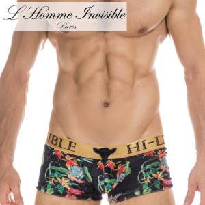 ボクサーパンツ メンズ ブランド ローライズ L'Homme Invisible ロームアンヴィジーブル Tosca Red Push Up ボクサー (uw05-vel-521)|mensrunway
