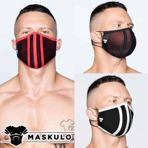 ファッションマスク メンズ おしゃれ 洗える 繰り返し使用 Maskulo マスクロ Life 3D Mask メッシュ (ma-ac042)|mensrunway