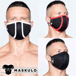 ファッションマスク メンズ おしゃれ 洗える 繰り返し使用 Maskulo マスクロ Life 3D Mask メッシュ (ma-ac043)|mensrunway