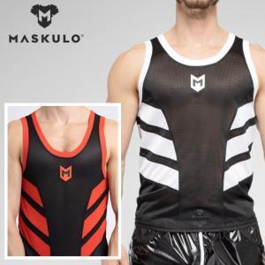 メンズ タンクトップ メッシュ ジムウェア トレーニングウェア ジョギング スポーツ Maskulo マスクロ SKULLA(ma-tp071)|mensrunway