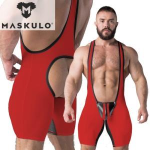 シングレット 男性下着 ボディスーツ 一体型セクシーインナー Maskulo マスクロ Armoredシングレット Oバック(男性下着ma-ws1110)|mensrunway