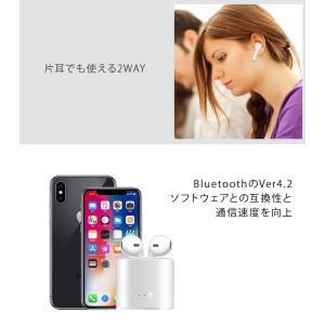 ワイヤレスイヤホン 充電ケース付き Bluetooth イヤホン 片耳 両耳 2WAY スポーツ ランニング iphone android スマホイヤホン|menstrend|08