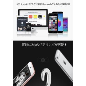 ワイヤレスイヤホン bluetooth ブルートゥース イヤホン 骨伝導 片耳タイプ iPhone android アンドロイド スマホ 高音質 音楽 耳かけ型|menstrend|09