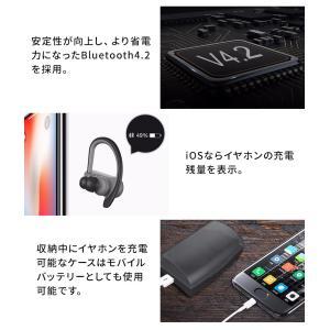 ワイヤレス イヤホン  Bluetooth イヤホン 完全ワイヤレスイヤホン 両耳 片耳 スポーツ iPhone スマホ対応 高音質 防水 運動 ブルートゥース ランニング|menstrend|06