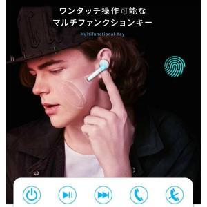 bluetooth イヤホン ワイヤレスイヤホン 両耳 片耳 防水 スポーツ ランニング ブルートゥース iPhone 7 8 X XS android 高音質 充電ケース付き menstrend 06