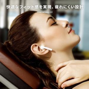 ワイヤレスイヤホン iPhone Bluetooth 5.0 ブルートゥース イヤホン 片耳 両耳 2WAY マイク スポーツ ランニング ヘッドセット 充電ケース付き|menstrend|07