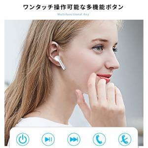 ワイヤレスイヤホン Bluetooth 5.0 イヤホン 片耳 両耳 iPhone 7 8 X ブルートゥース 充電ケース スポーツ ランニング|menstrend|06