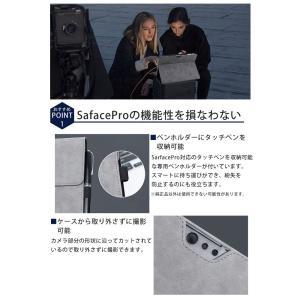 surface pro サーフェスプロ カバー ケース 保護ケース surface go pro4/pro5/pro6 両面保護 PUレザー アクセサリー タッチペンホルダー付 キーボード収納可能|menstrend|03