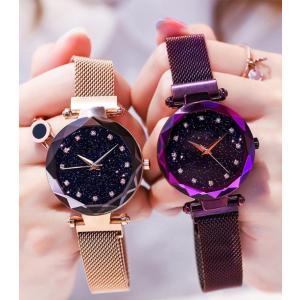 腕時計 レディース 防水 おしゃれ レディースウォッチ 星空 腕時計 レディース 安い ファッション時計 腕時計 女性 アナログ 腕時計 ミラネーゼ ループ バンド|menstrend|11
