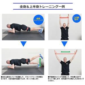 ゴムバンド ゴムチューブ エクササイズバンド トレーニングチューブ フィットネスチューブ 強度別 5本セット インナーマッスル 体幹  ラバー menstrend 05